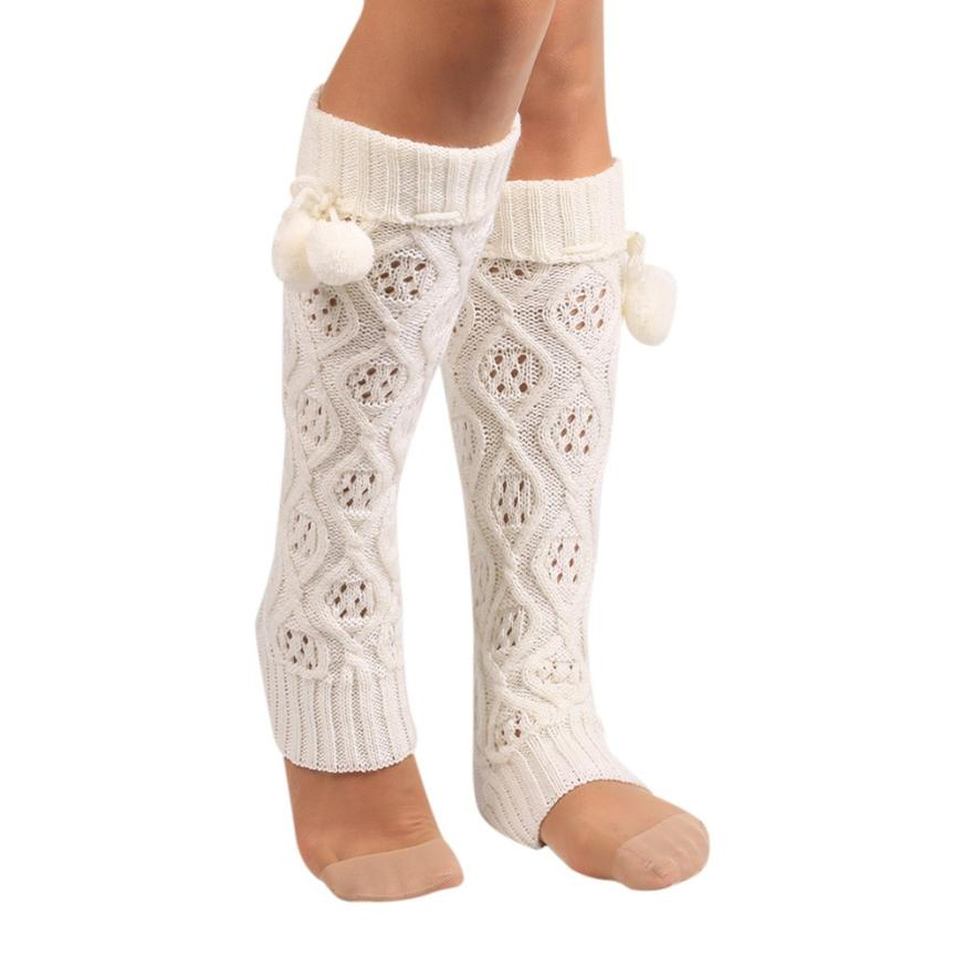 snowshine YLI Women Winter Warm Knitted Socks Leg Warmers Boot Crochet Long Socks