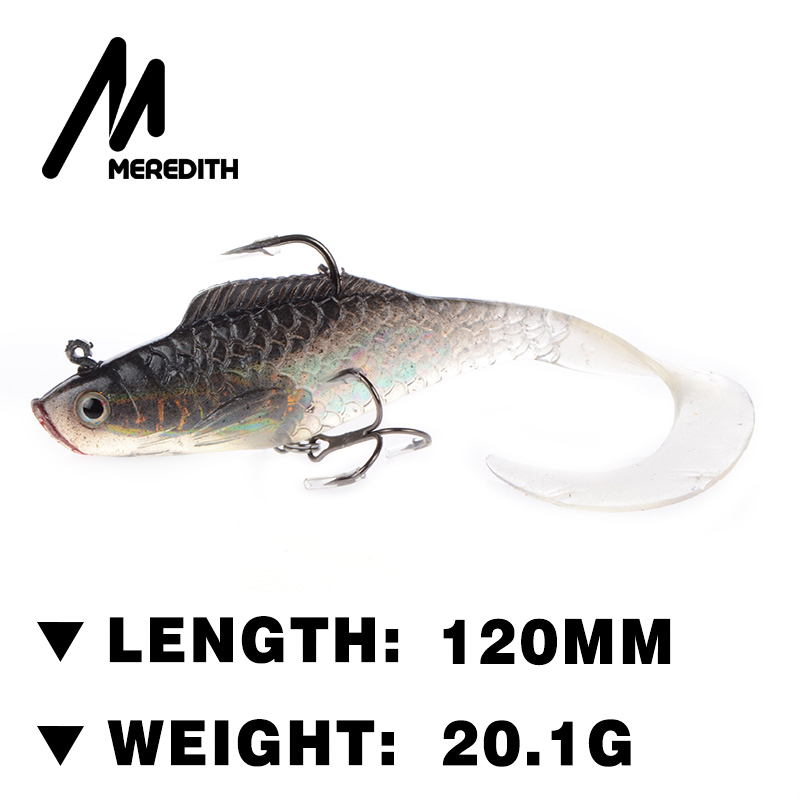 Meredith fishing JXJ14-12 Retail hot model high quality fishhook 3pcs 20.1g 120mm  soft lead fish fishing lures meredith lure jx51 10 retail hot model 5pcs 95mm 7 9g quality artificial bait fish fishing soft lures
