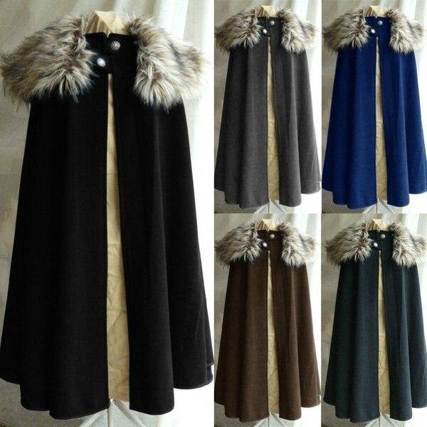 Medieval Men S Fashion Celtic Viking Wool Cape Coat