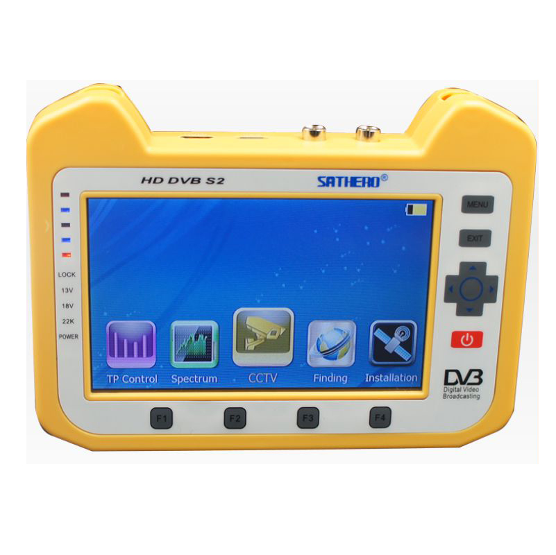 Sathero SH-900HD DVB-S/S2 Satellite Meter Finder HD CCTV With Real time  Spectrum Analyzer 7 Inch HD TFT LCD Screen Support1080P