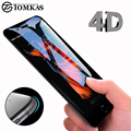 4D Round Curved Edge Tempered Glass For iPhone 6 6s Plus 7 8 X Full Cover Screen Protector Premium 5D Protective TOMKAS