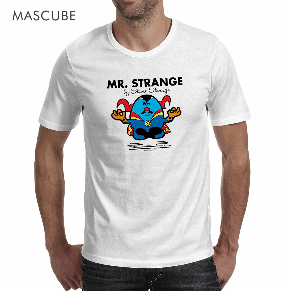 Mascube funny usa super hero avenger 2d kawaii cute doctor strange steven design t shirt 2017