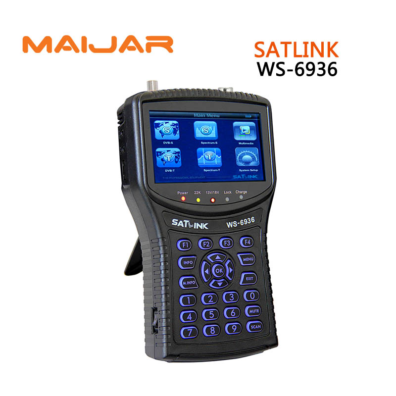 Original Digital satellite finder meter satlink ws6936 Digital terrestrial signal search satlink  ws-6936 satellite finder 6936 gt sf9506 digital satellite signal finder meter black