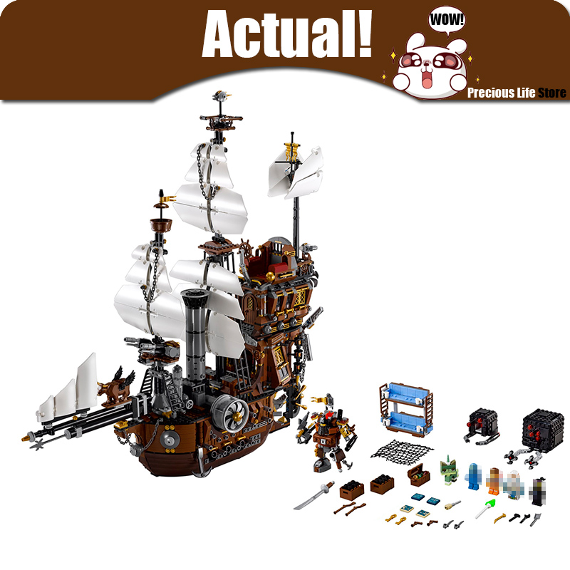 LEPIN Metal Beard Sea Cow Movie 16002 2791pcs Model Building Kits Blocks Bricks Compatible 70810 Toys for Children Pirates Ship kazi 608pcs pirates armada flagship building blocks brinquedos caribbean warship sets the black pearl compatible with bricks