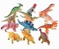 6 PCS set 15-18 cm figuras de Ação brinquedos do Dinossauro Dinossauro Modelos de Simulação De Borracha Do chocalho Do Bebê do Menino do miúdo brinquedos de Parque Jurássico