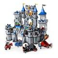 1023 Enlighten Del bloque hueco Aclare Medieval León Castillo Caballero Carro Modelo Juguetes para Niños brinquedos