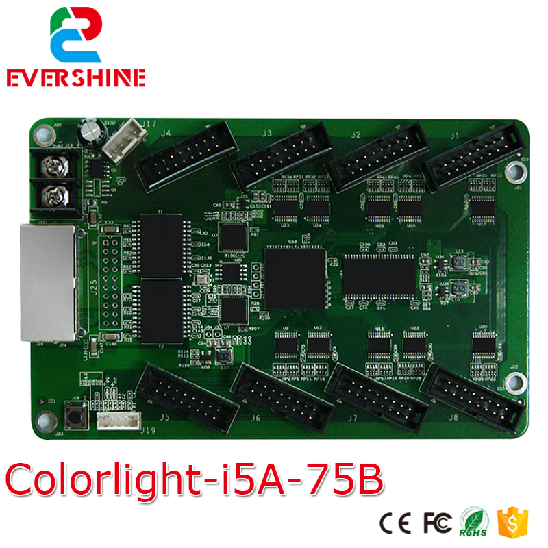 5A-75 Receiving Card with 8 pcs HUB75 Ports Full Color RGB <font><b>LED</b></font> Display synchronous Receiving Card for p6 p8 p10 p12 <font><b>p16</b></font> p20