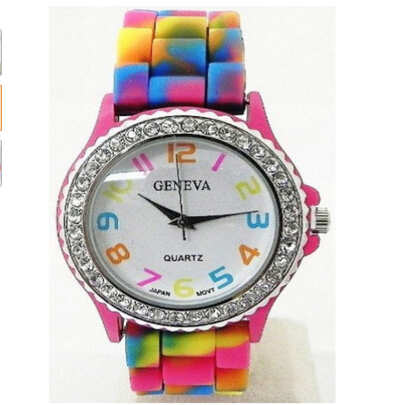 Excellent Quality 2016 Hot New Fashion Candy Color Silicone Quartz Watches Geneva Women Wrist Watches Relogio Feminino Gift