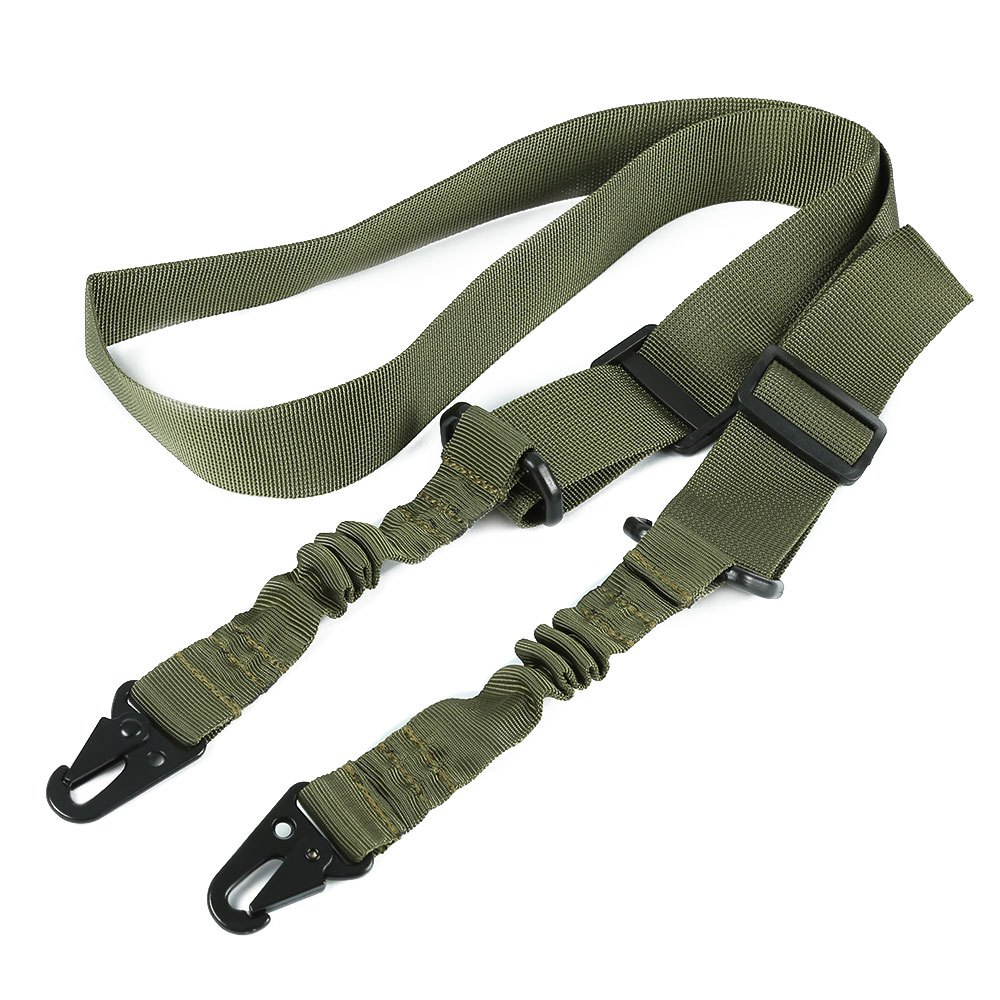 1 Unids Nylon Individual/Dos Point Tactical Bungee Rifle Sling Airsoft arma de L