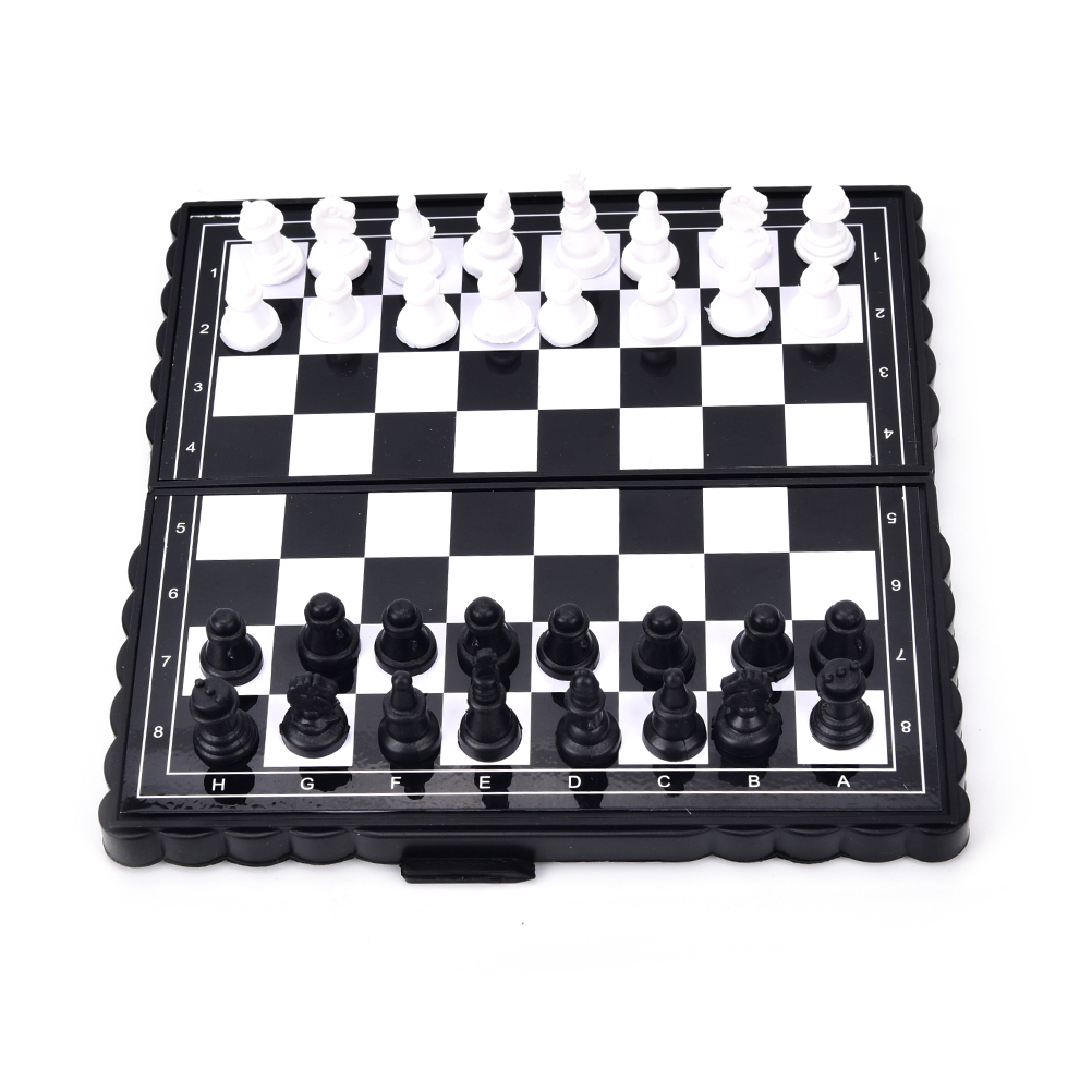 """Chess /& Checkers Folding Magnetic Travel Set 12.6/"""" 3 in 1 Board Game Backgammon"""