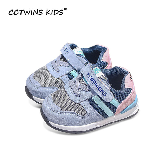 CCTWINS KIDS 2017 Spring Autumn Girl Brand Walking Child Sport Trainer Baby Boy Fashion Pu Leather Shoe Toddler Sneaker  F1302