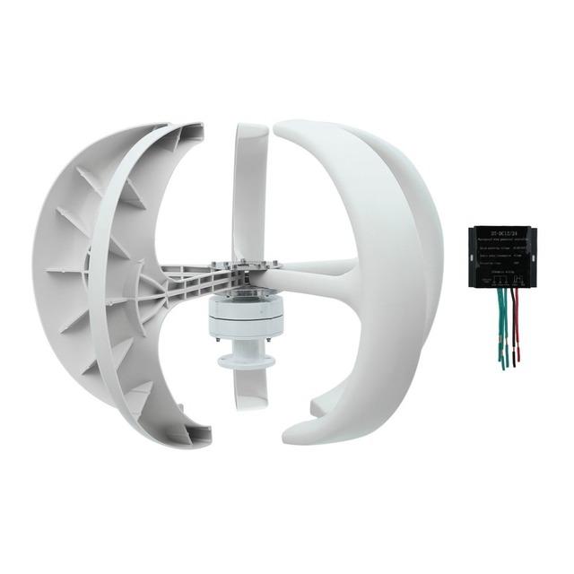 5 Blades Wind Turbine Generator 300W 24V Vertical Axles Lantern Type Turbine Generator With Waterproof DC Charger Controller