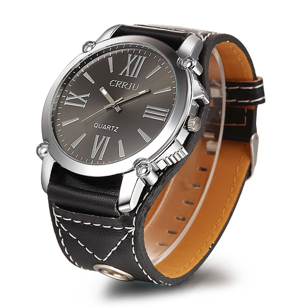New listing CRRJU Men watch Luxury Brand Watches Quartz Clock Fashion Leather belts Watch Cheap Sports wristwatch relogio male  new listing xiaoya men watch luxury brand watches quartz clock fashion leather belts watch sports wristwatch relogio male