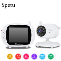 3.5 Wireless Video Baby Sleep Monitor 2 Way Talk WIFI Video Surveillance Security Camera Night Vision Nanny Temperature Detect