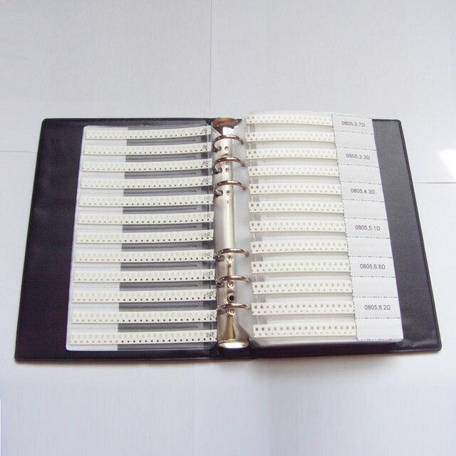 0805 SMD Campione Libro 63 valori di 3025 pz 5% Kit Resistenze e 17 valori 700 pz Set Condensatore