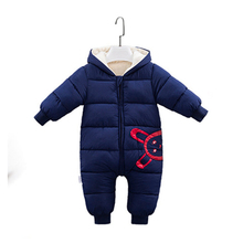 2018 Baby Clothes New Winter Warm Hooded Baby Rompers Thick Cotton Outfit Newborn Jumpsuit For Children Baby Costume стоимость