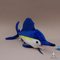 Cute Stuffed Swordfish Doll Toy Real Life Marine Animals Dolls Children's Toys Rare