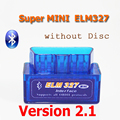 (Without Disc) V2.1 Super MINI ELM327 ELM 327 Bluetooth OBDii / OBD2 Auto Code Reader Diagnostic Tool FREE SHIPPING