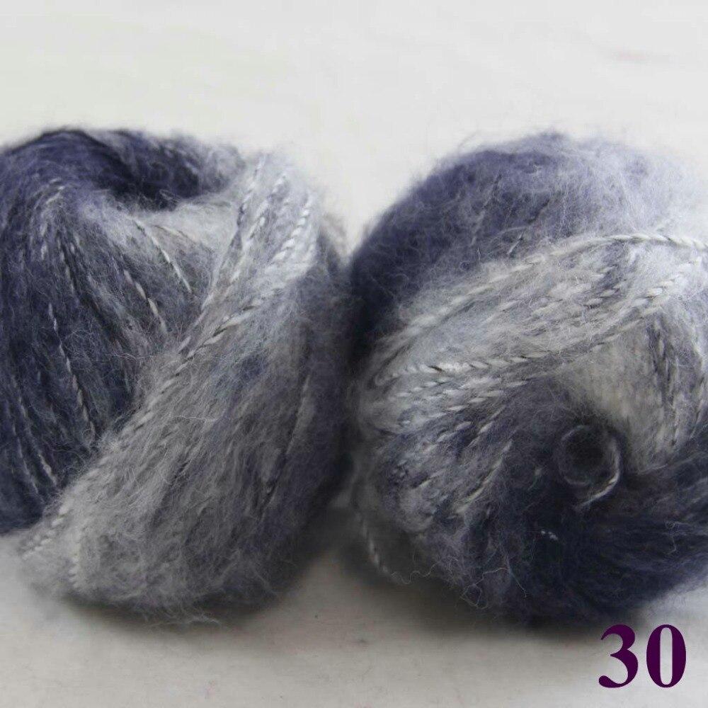 Venta mucha 2 bolas x 50 g encaje MOHAIR mano de seda que hace punto ...