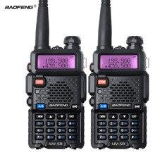 2Pcs Baofeng UV 5R Walkie Talkie Dual Band UV5R CB Radio FM 128CH VOX Ham Radio Station Transceiver for Hunting Radio Set