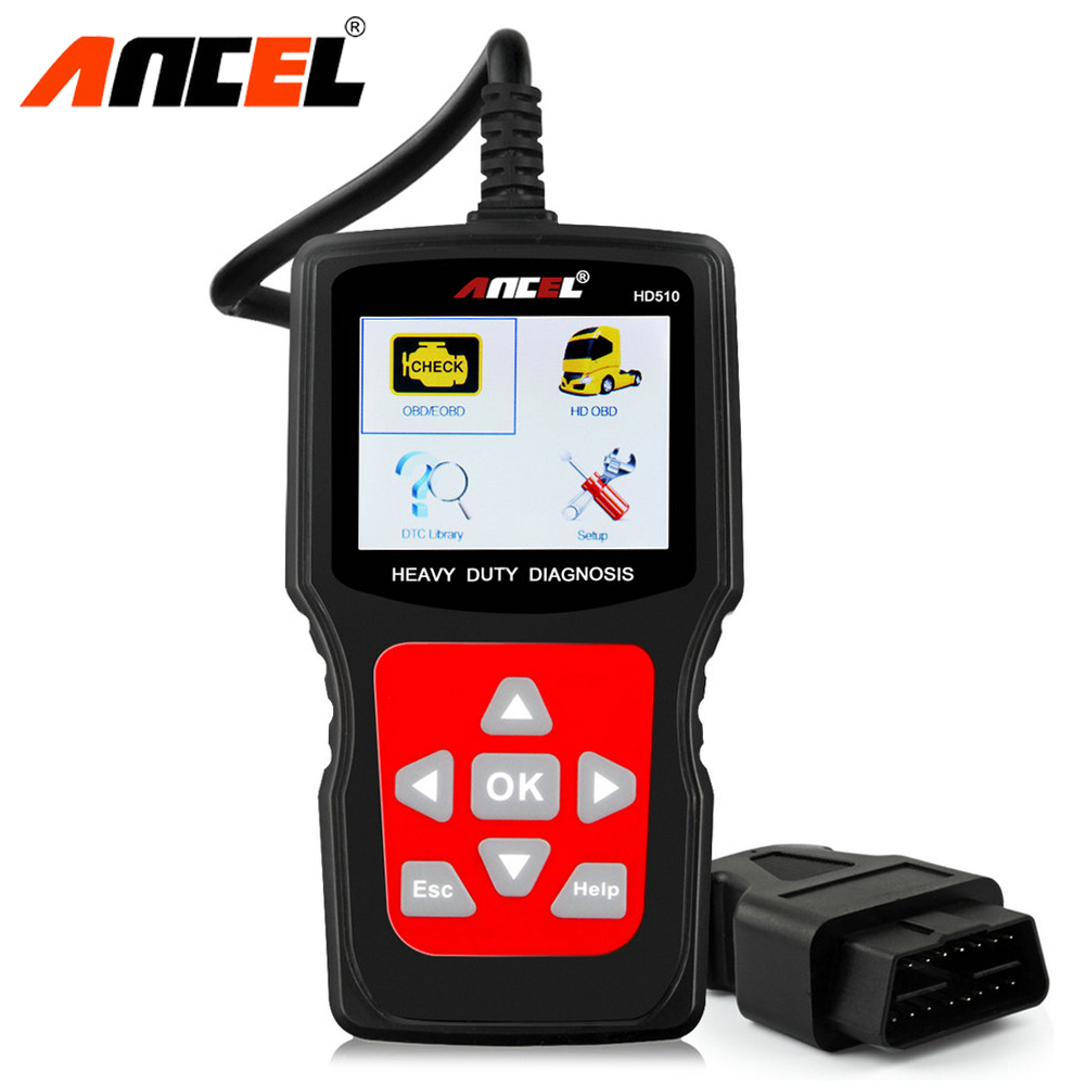 Ancel HD510 Heavy Duty Truck Diagnostic Scanner OBD OBD2