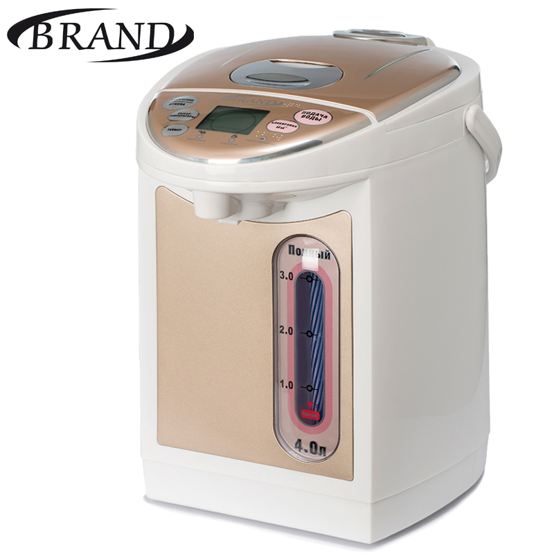 BRAND4404S Electric Air Pot digital, Thermopot, 4L, temperature control, LCD display, timer, children lock, Thermo pot дикие животные раскраска для малышей
