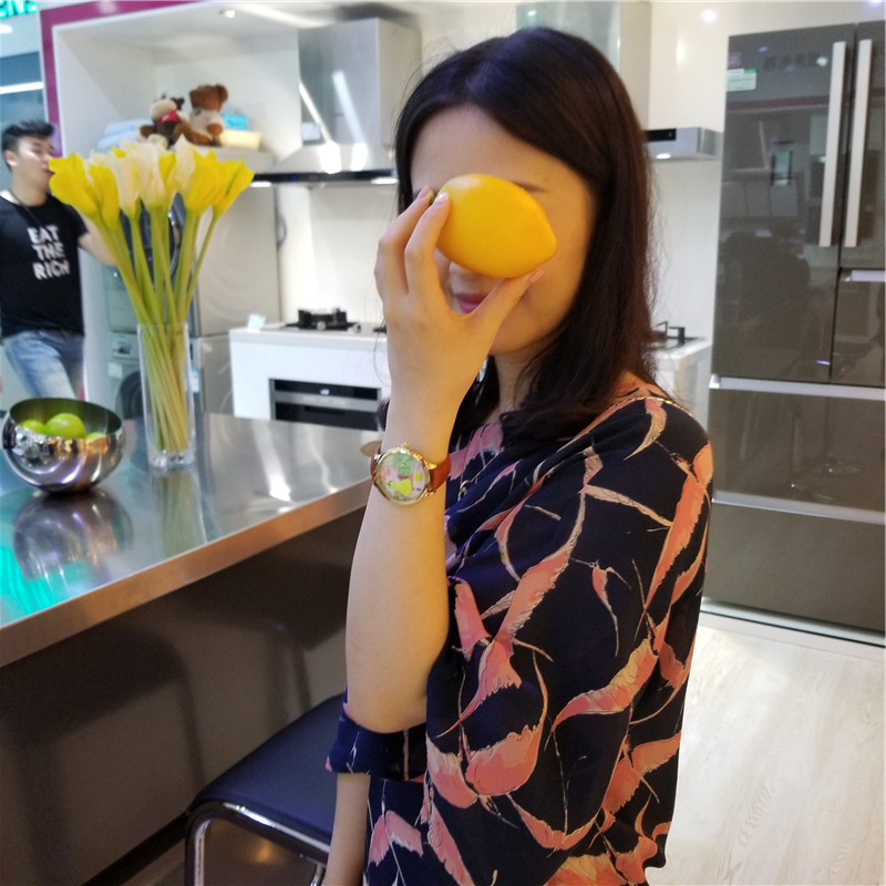 Orz Miss Keke 3d Clay Cute Yellow Feestjurken Horloges Relogio - Dameshorloges - Foto 2