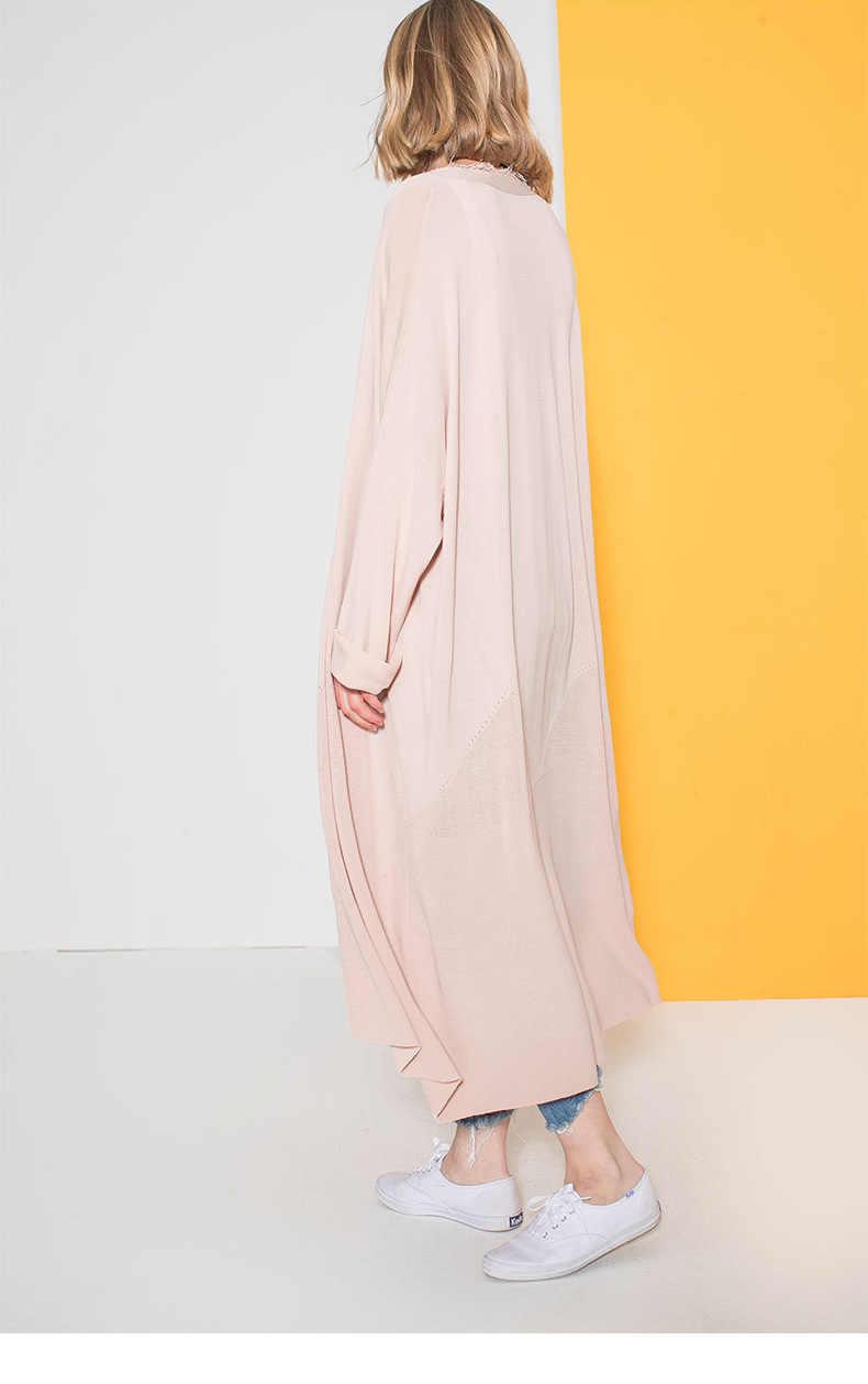 European Long Women cardigan 2019 Summer Long Sleeve V Neck Cardigans Spring Female Long Tassel Coats Outwear Abrigos Mujer 160