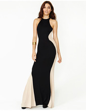 Frauen sleeveless sexy lange formale ball cocktail prom party dress kleid