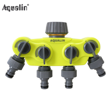 Garden 4 Way Hose Splitter  Plastic Connector Distributor Hose Connector with Copper Connector for Outdoor Tap and Faucet #27224