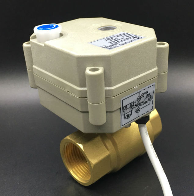 TF20-B2-B BSP/NPT 3/4'' Brass DN20 Full Bore Actuated Valve DC12V or DC24V  2/3/5/7 Wires For Water Control HVAC Heating