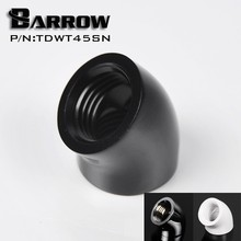 Barrow TDWT45SN 45 Degree Female to Female Angle Fitting with G1/4'' Silver/Black/White/Gold Options(China)