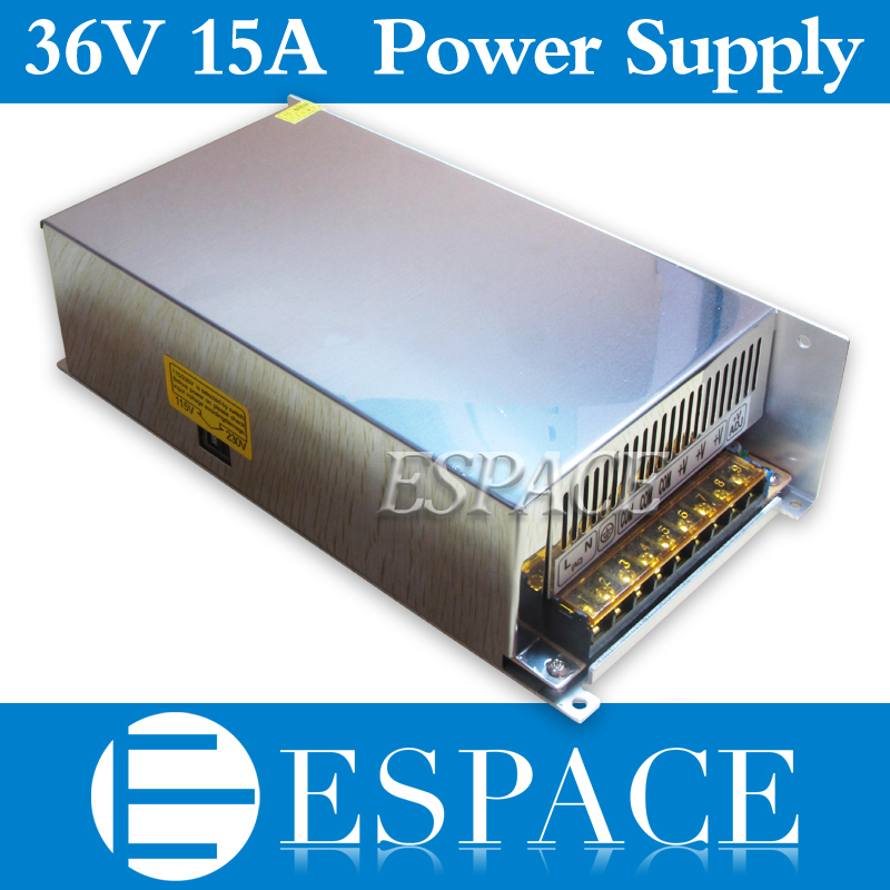 10pcs/lot 36V 15A 540W Switching Power Supply Driver for CCTV camera  LED Strip AC 100-240V Input to DC 36V free Fedex ac dc 36v ups power supply 36v 350w switch power supply transformer led driver for led strip light cctv camera webcam