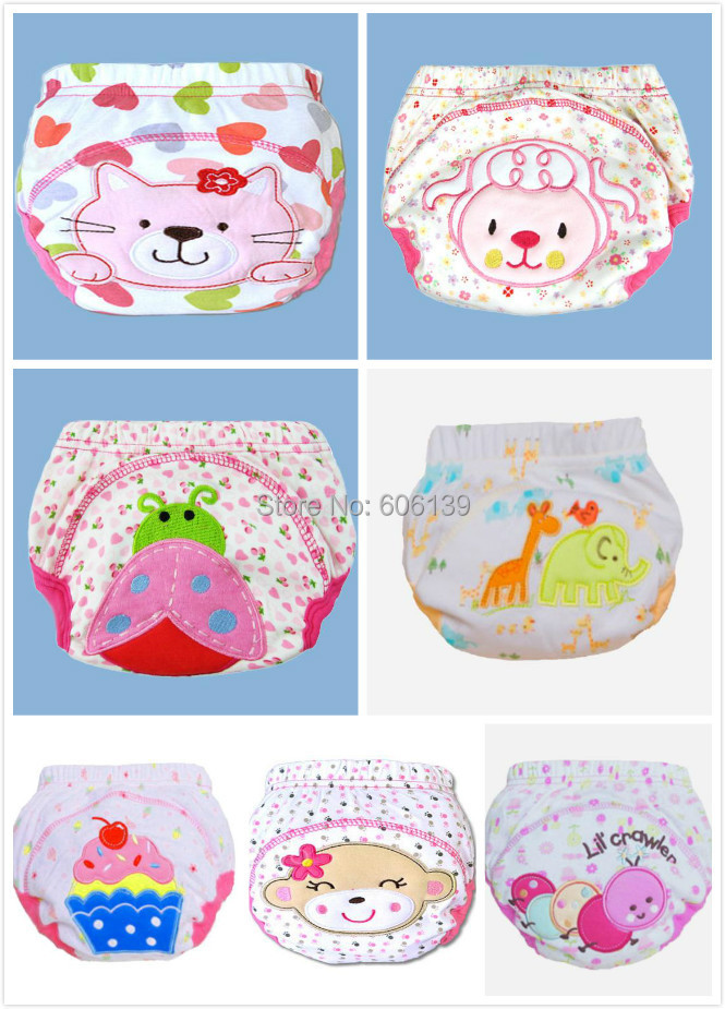 Hot sale waterproof baby girls potty training pant infant underwear panties newborn underclothing 7pcs/lot