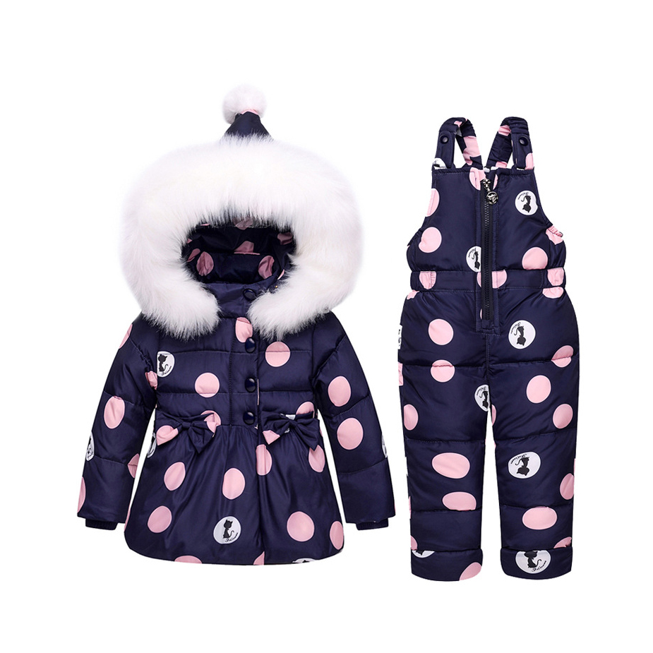Children Down Suit New Two Piece Set Girl 1-3 Year Old Baby Winter clothing Fashion Girl cat Cartoon Hooded Parkas Clothing Girl brand fashion new 2016 winter children down & parkas girl s hooded jackets print character outer wear clothing