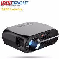 VIVIBRIGHT GP100 Full HD 3200 Lumens 1080P WIFI Bluetooth LED Android Projector LCD Home Theater Cinema Video Proyector
