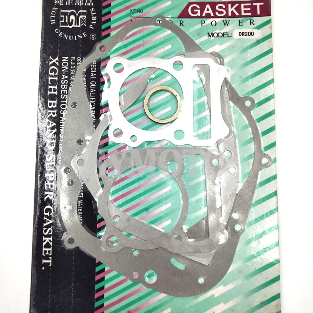 Motorcycle complete full gasket kit Whole mats engine overhaul pads For Suzuki DR200 DR 200