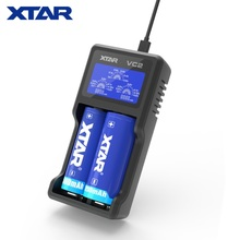 XTAR ניו VC2 מטען אוניברסלי LCD מסך תצוגת USB Ni Mh/Ni CD ליתיום סוללה מטען 18650 26650 20700 22650 18500 18700