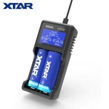 شاحن XTAR VC2 جديد عالمي بشاشة عرض LCD USB Ni mh/Ni CD شاحن بطارية ليثيوم أيون 18650 26650 20700 22650 18500 18700