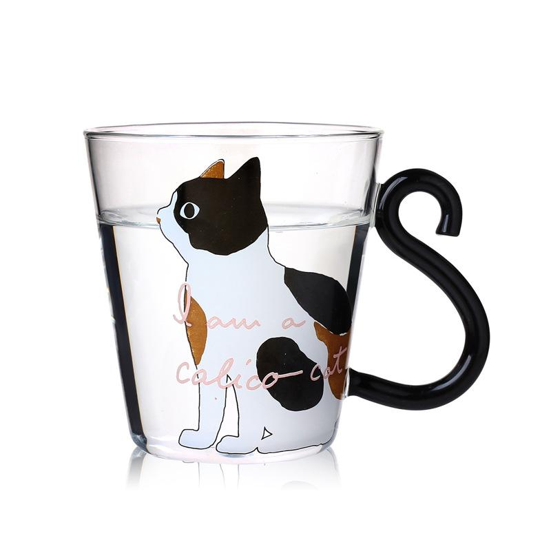 Creative Cute Cat Gl Mug Cups Tea Milk Cup Coffee Mugs With Handle Kids Milke 200ml In Transpa From Home