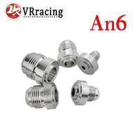 VR - 4PCS/PACK Top Quality Aluminum AN6 -AN Straight Male Weld Fitting Adapter Weld Bung Nitrous Hose Fitting Silver SL617-7206