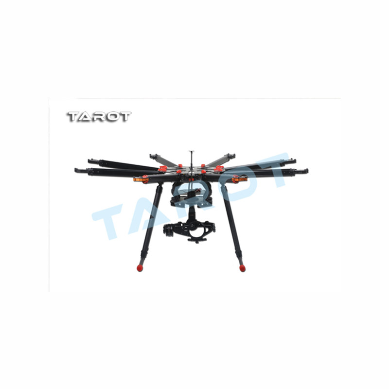 Tarot-RC X8 ALL Carbon Fiber TL8X000 8 Axis Octocopter with Electric Retractable Landing Skids and Folding Arm for FPV Photograp f11270 tarot x8 8 aixs umbrella type folding multicopter uav octocopter drone tl8x000 with retractable landing gear