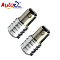 AutoEC 1156 1157 7014 led S25 6SMD with lens turn signal parking backup light 12v Xenon Pure White #LF27