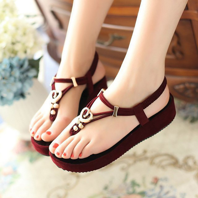 a84865dad Fashion High Heel Jelly Sandal Casual Womans Designer Flat Sandals Ladies  Luxury Brand Platform Fake Shoes Sapato Feminino WC102