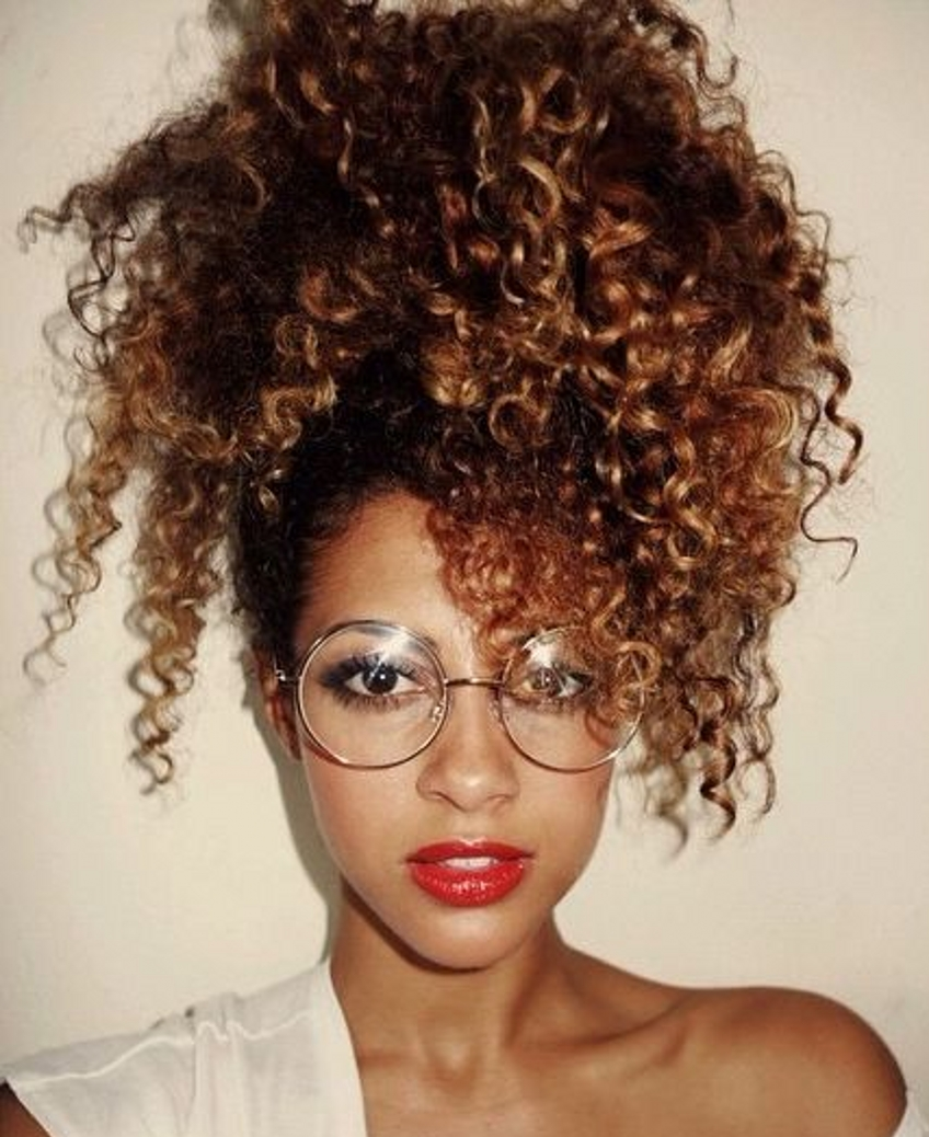 Personality Ponytail Clip In Afro Kinky Curly Peruvian