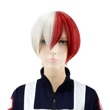 HSIU חדש גבוהה באיכות Shoto Todoroki פאת קוספליי שלי גיבור האקדמיה תלבושות לשחק פאות ליל כל הקדושים תלבושות שיער משלוח חינם