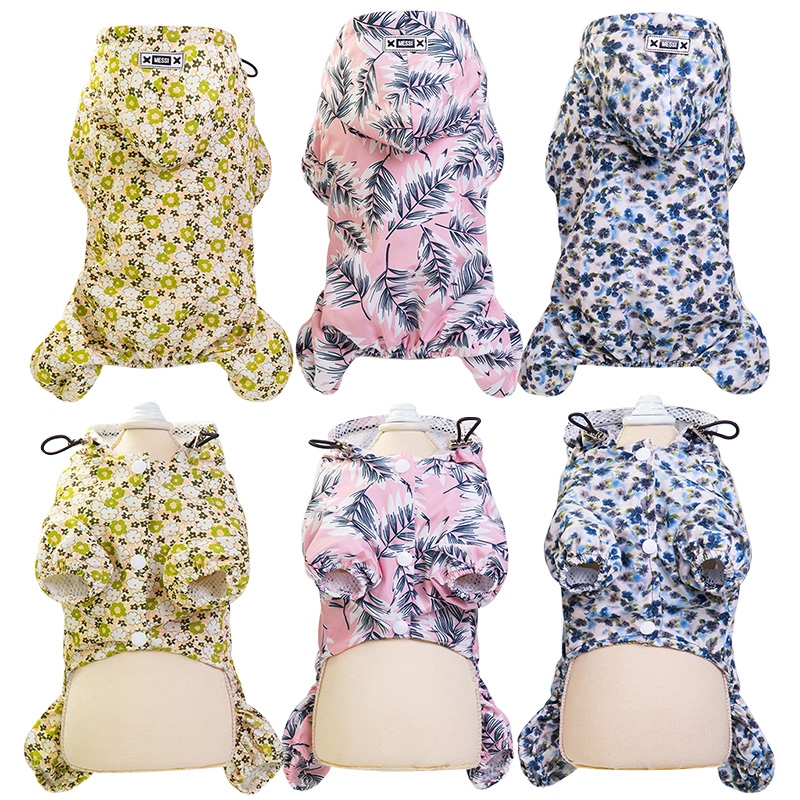 Dog Clothes Outdoor Puppy Pet Rain Coat S-XXL Hoodie Waterproof Jackets Raincoat for Dogs Cats Apparel Clothes Wholesale 480445
