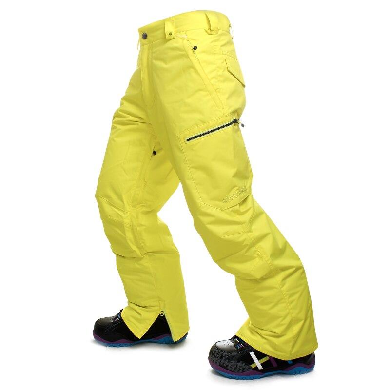 GSOU neige haute qualité hommes pantalons de Ski snowboard coloré chaud imperméable coupe-vent respirant pantalon de Ski
