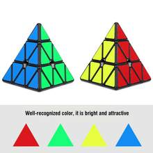 Triangle Classic Professional Speed Pyramid magic cubes Puzzle cubo magico Twist Game Toy Educational Gift toys for children(China)