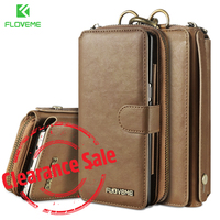 FLOVEME Handtasche Telefon Fall Für Samsung S8 S7 Galaxy S8 S7 S6 rand Plus Note 5 Luxury Leather Wallet Fall Für Huawei Taube 9 tasche